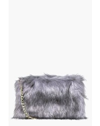 Boohoo Mia Faux Fur Cross Body Bag