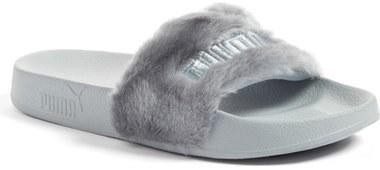 super popular 4d320 6744c $89, Puma Fenty By Rihanna Leadcat Fenty Faux Fur Slide Sandal