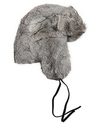 Surell Chinchilla Grey Dyed Rabbit Fur Trapper Hat