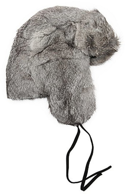 ... Surell Chinchilla Grey Dyed Rabbit Fur Trapper Hat 549c2d3aad9
