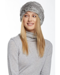 Jocelyn Fur Knitted Long Genuine Rabbit Hair Hat