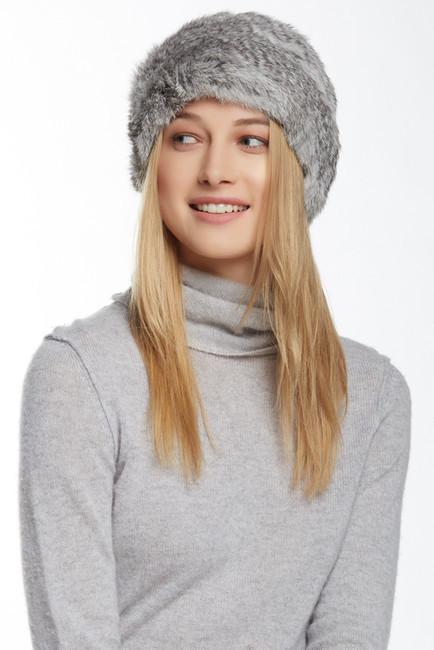 a4148c1b783 ... Jocelyn Fur Knitted Long Genuine Rabbit Hair Hat ...