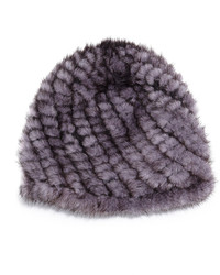 Jocelyn Mink Fur Tails Hat Blue Iris