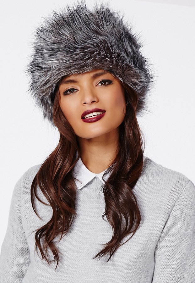 23c76d82 Missguided Raziya Faux Fur Hat Grey, $22 | Missguided | Lookastic.com
