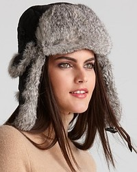 Surell Rabbit Fur Aviator Hat