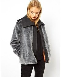 Asos Faux Fur Jacket By Marcel Ostertag