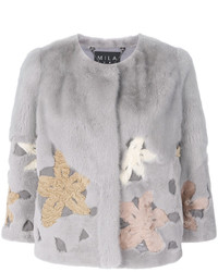 Cara mila mimosa floral mink jacket medium 5409947