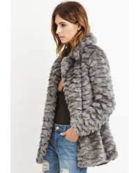 Forever 21 Contemporary Faux Fur Coat