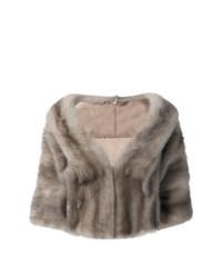 Liska Cropped Mink Fur Coat