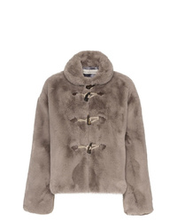 Golden Goose Deluxe Brand Faux Fur Satin Lined Jacket