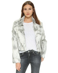 Adrienne Landau Fur Moto Jacket