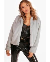 Boohoo Kerry Crop Faux Fur Coat