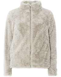 Light Grey Faux Fur Coat