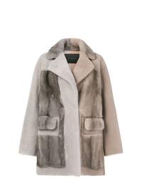 Blancha Two Tone Mink Fur Jacket