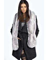 Boohoo Megan Longpile Faux Fur Extra Long Scarf