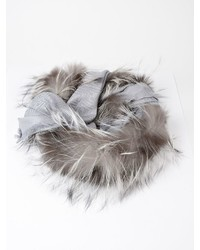 Fendi Fluffy Trim Scarf