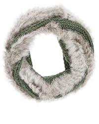 Buji Baja Fur Knit Wool Blend Infinity Scarf