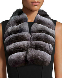 Gorski Chinchilla Fur Collar Natural