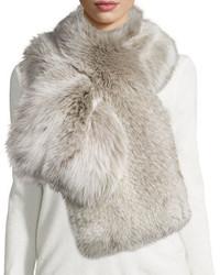 Il Borgo Fox Fur Pull Through Scarf