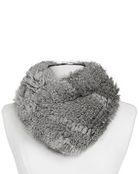 Vince Camuto Knit Fur Infinity Scarf