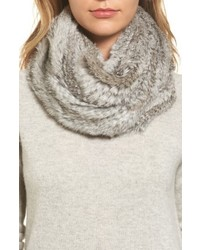 Solid genuine rabbit infinity scarf medium 6458429
