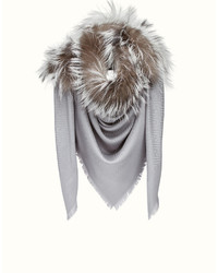 Fendi Touch Of Fur Shawl