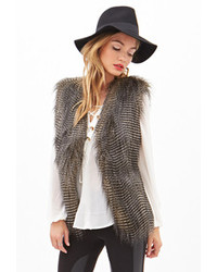 Forever 21 Contemporary Two Tone Faux Fur Vest
