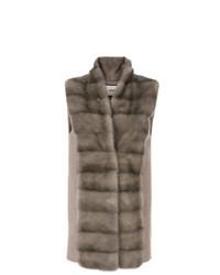 Max & Moi Fur Stole Vest