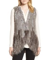 Love Token Genuine Rabbit Fox Fur Vest