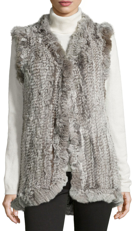About Fur Vests The fur vest is a couture piece of clothing that uses the hides of animals such as foxes, rabbits and, sometimes, raccoons. Vintage fur vests available from sellers on eBay can be expensive if they are in good condition.