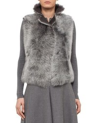 Reversible toscana lamb fur vest cliff medium 4991251