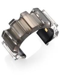 Alexis Bittar Corrugated Lucite Cuff Bracelet