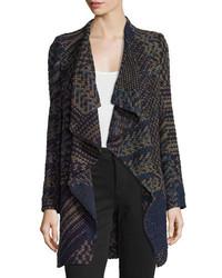 BA&SH Icare Woven Open Front Coat Khaki