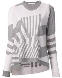 Thakoon addition geometric striped sweater medium 102928