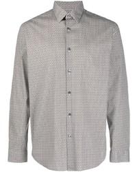 Theory Irving Geometric Print Shirt