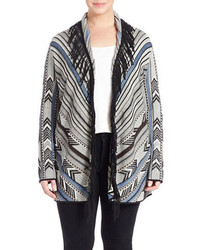 Nic+Zoe Dashing Tribal Fringed Cardigan