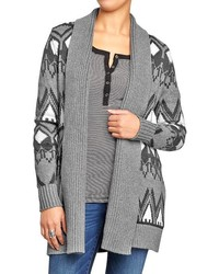 Old Navy Geometric Print Open Front Cardigans