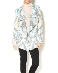 Renee C Spearmint Aztec Sweater