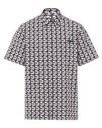 Prada Geometric Shape Print Short Sleeved Shirt