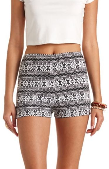 Charlotte Russe Tribal Print High Waisted Shorts | Where to buy ...
