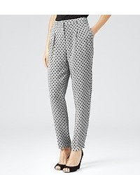 Orla geo print silk trousers medium 50111