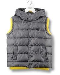 Armani Junior Down Gilet With Detachable Hood
