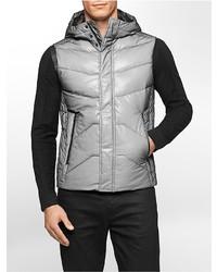 Calvin Klein Ck One Mesh Bonded Hooded Puffer Vest