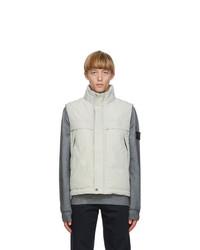 Stone Island Grey Down Micro Reps Vest