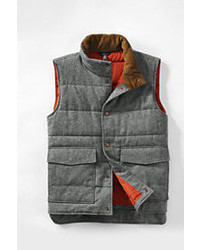 Lands' End Landsend Herringbone Puffer Vest Norway Sprucexxl