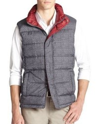 Saks Fifth Avenue Collection Reversible Plaid Puffer Vest