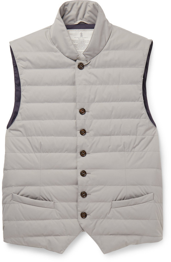 d0c6a4fe191 Brunello Cucinelli Water Resistant Shell Down Gilet, $1,375 | MR ...