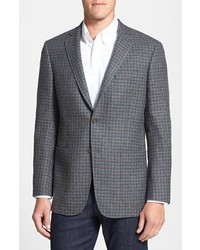Grey Gingham Blazer
