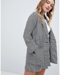 Monki Check Tailored Blazer Co Ord