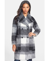 Plaid double breasted coat medium 141163